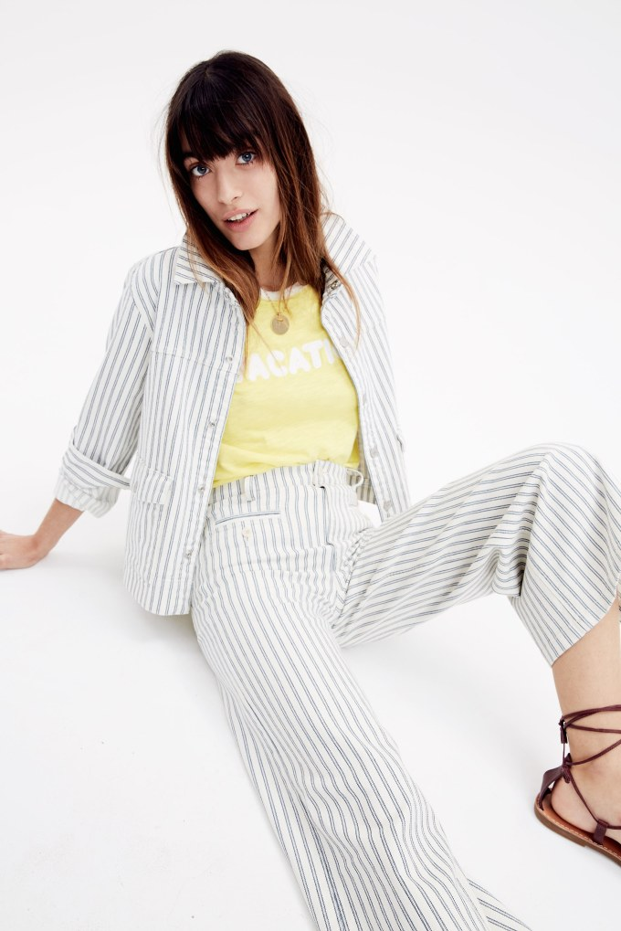 This striped designer inspired outfit is great for summer vacation!